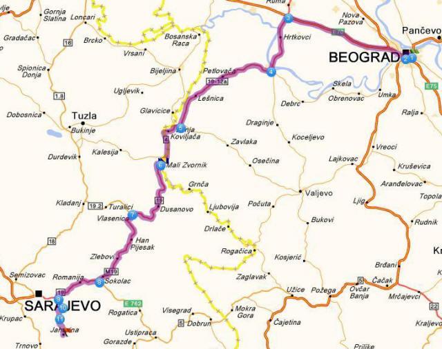 beograd jahorina mapa jahorina beograd jahorina mapa