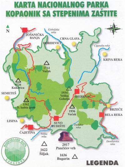 nacionalni parkovi srbije karta Nacionalni park Kopaonik nacionalni parkovi srbije karta